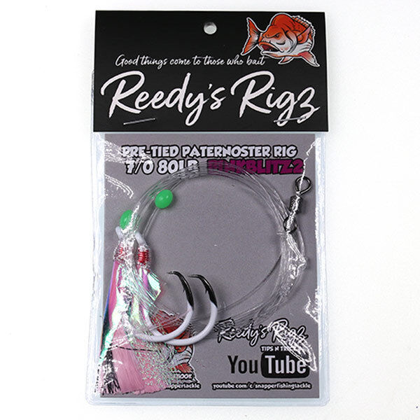 5x Reedy's Ultra Lure Lure Lure RIg Lumo Hook Paternoster Rig Snapper Kingfish Flasher 90bd9e