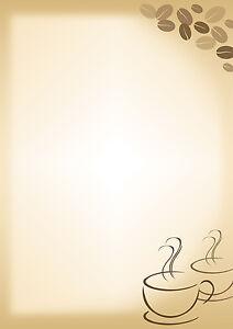 motivpapier briefpapier 20 blatt din a4 cafe kaffee frühstück, Einladung