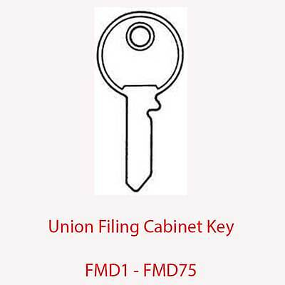 FMD75 Union Replacement Filing Cabinet Key FMD1