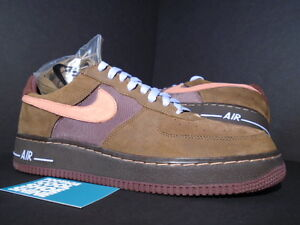 06 Nike Air Force 1 Premium TATTOO BROWN SUNBLUSH PINK BISON