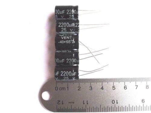 100Pcs Electrolytic Capacitors 25V 2200uF Volume 13x21mm 2200uF 25V