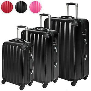 Set-3-maletas-policarbonato-ABS-juego-de-maleta-de-viaje-trolley-4-ruedas-NUEVO