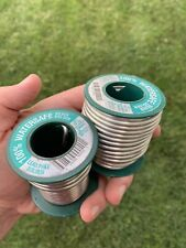 2 Partial Spools Canfield Watersafe Lead Free Silver Solder Rolls 1 12 Lbs