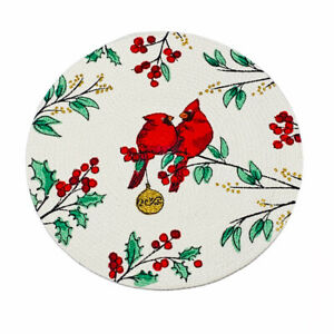 Park Designs Holly Berry Braided Placemat Set