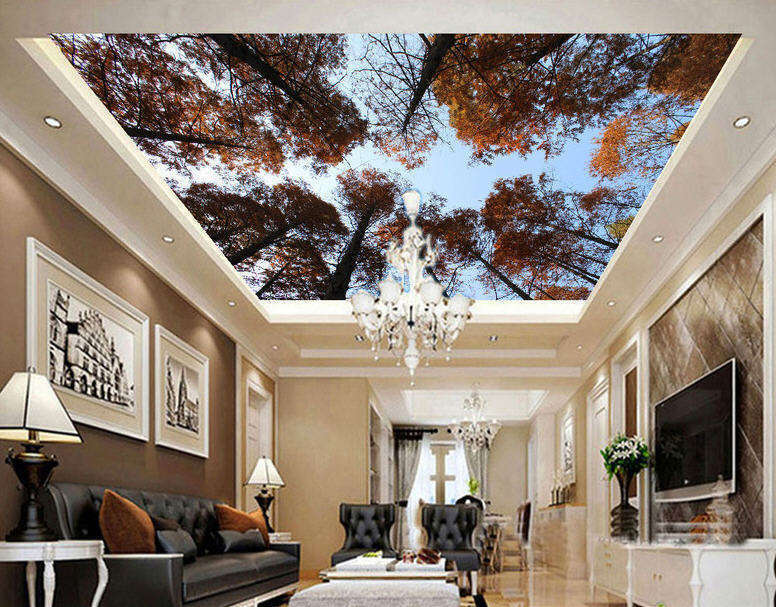 WitheROT Quiet Trees Full Wall Mural Photo Wallpaper Print 3D Ceiling Decor Home