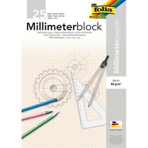 Folia 8230//25 Millimeter-Block A3 25bl.80g