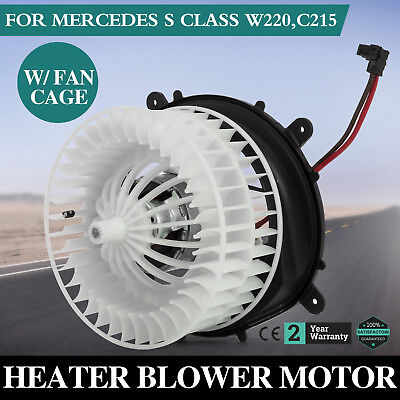 New AC A//C HVAC Climate Control Heater Blower Motor w// Fan For Benz W220 C215