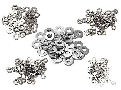APPROX 200g MIXED ASSORTED A2 STAINLESS WASHERS SPRING LOCKING PENNY FLAT FORM A