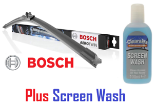 BOSCH-AP19U-19-034-475mm-Aero-Twin-Single-Car-Wiper-Blade-amp-Clearalex-Screen-Wash