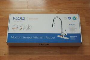 Biobidet Flow Motion Sensor Kitchen Faucet Dual Spray
