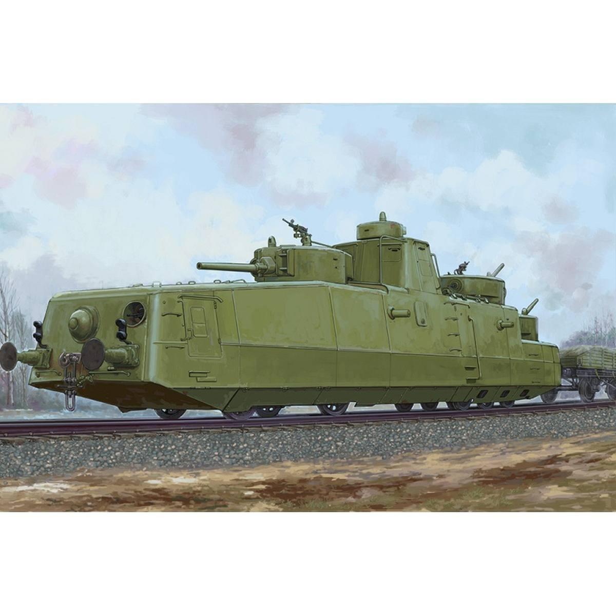 Hobby Boss Soviet MBV-2 Armored Train Late F-34 Gun Locomotive 1 72 Kit 85514