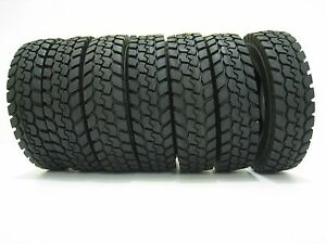 RC-4Pcs-Rubber-Tires-For-Tamiya-1-14-Scale-Tractor-Truck-Trailer-Climbing-Car