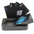 Creative Black PVC Waterproof Table Game Texas Poker Magic Playing Cards Loud