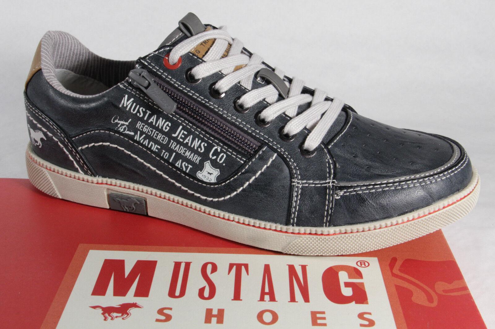 Mustang Herren 4073 Schnürschuh Sneakers Halbschuh grau Gummisohle NEU!
