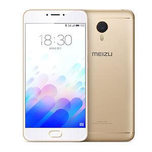 "Touch ID Meizu M3 Note Helio P10 Mobile Phone Octa Core 5.5"" 4G 13M 4100mAh Gold"