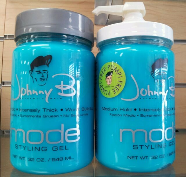 Johnny B Mode Styling Hair Gel 2 X 32oz Free Pump Included Bestprice