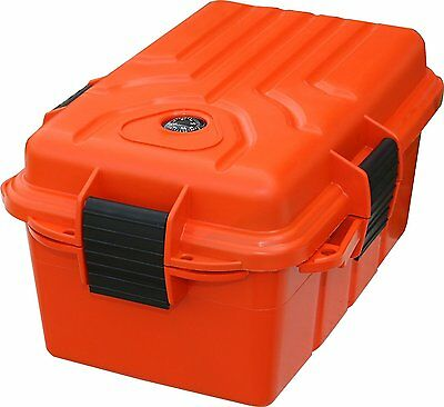 Rugged Boating Fishing Emergency Dry Outdoor Storage Box Bin Floats w Compass