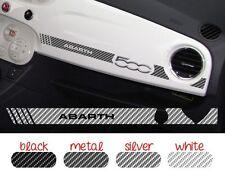 Adesivo Stickers Fiat 500 plancia Abarth RacingCarbon Look scelta tra 4 colori