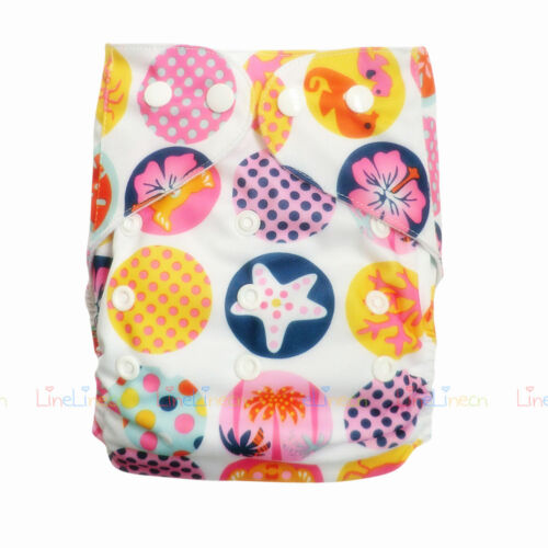 Insert Baby Cloth Diapers Lot One Size Reusable Washable TPU Pocket Nappies