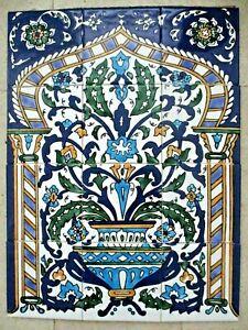 Ceramic-tile-art-Mosaic-wall-mural-Arabesque-Antique-floral-BACKSPLAH-18-034-x-24-034