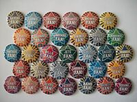 32 Ct 1 Footballs Teams Fan Buttons Pinbacks Flatbacks Hairbows Crafts