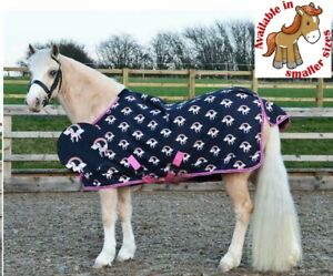 Hy-Unicorn-Print-Lightweight-Waterproof-Breathable-Turnout-Pony-Rug-No-Fill-0g