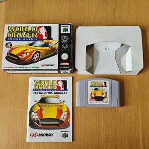 Campeonato del mundo controlador NINTENDO 64 N64 PAL Juego en Caja Completa Con Manual
