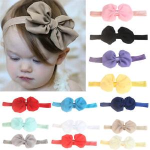 NE-Toddler-Girls-Baby-Turban-Solid-Headband-Hair-Band-Bow-Accessories-Headwear