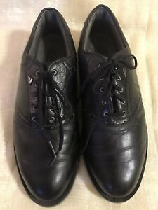 men's black leather adidas comfort casual/ dress lace up