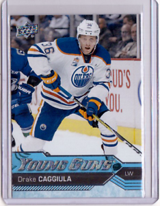 DRAKE-CAGGIULA-16-17-Upper-Deck-UD-Young-Guns-YG-Rookie-455-MINT-Oilers-Card