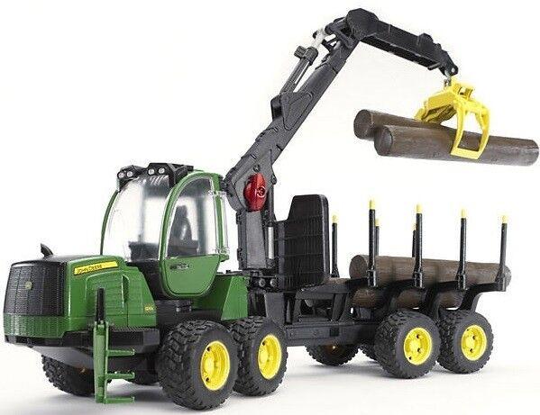 BRU2133 - Débardeur forestier JOHN DEERE 1210E avec grumes jouet BRUDER - 1 16