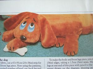 Details About Vintage Sewing Pattern Jean Greenhowe Guard Dog Draught Excluder 37