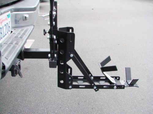 Portable Motorcycle Trailer Carrier Tow Dolly Hauler Rack Hitch 800lbs Capacity