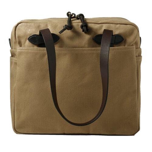 Filson Women/'s Rugged Twill Tote Bag with Zipper Tan