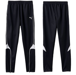 Bien éDuqué Big Boys Puma Pure Football Pantalon Tailles M, L, Xl Noir/blanc-afficher Le Titre D'origine