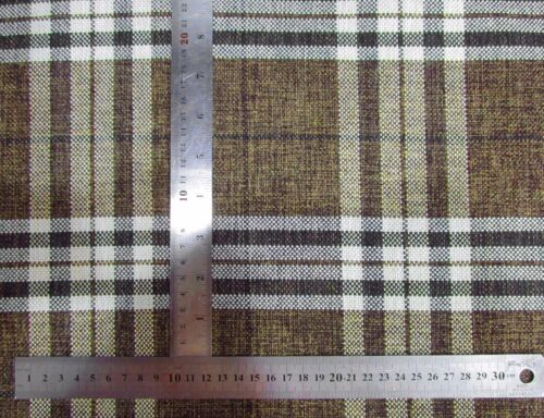 Qa103Aa Dark Brown Rough Linen Blend Check Stripe Cushion Cover//Pillow Case*Size