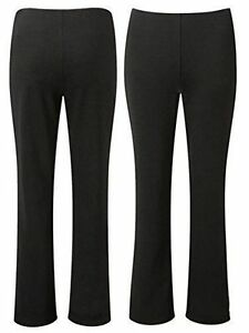 New-Ladies-Women-Soft-Stretch-Pull-On-Bootleg-Trousers-Plus-Size-10-26