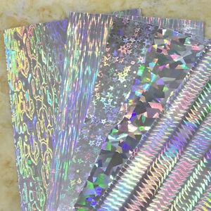 Geometry-Pattern-Holographic-Adhesive-Tape-Film-Flash-Fishing-Lure-Sticker-10Pcs