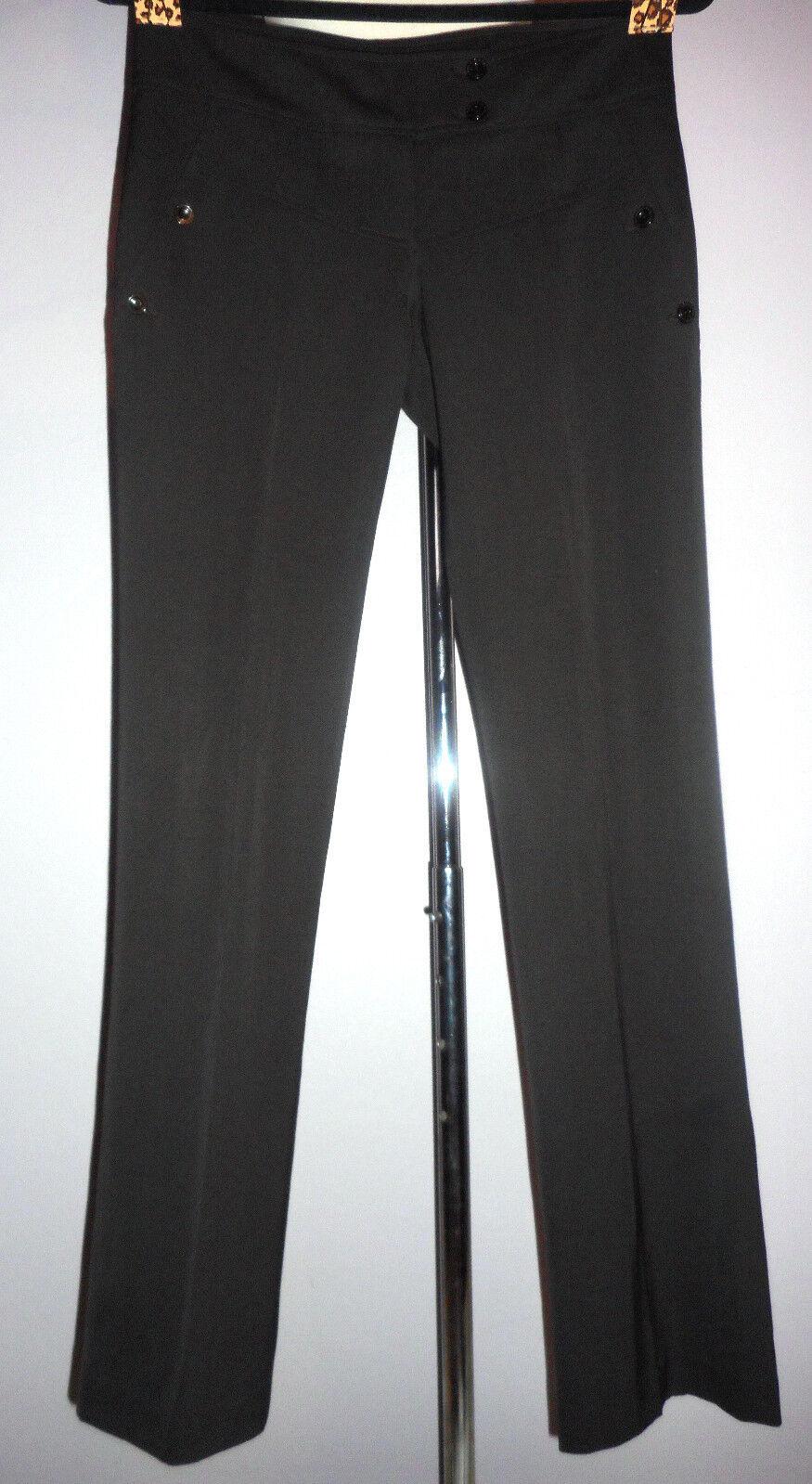 Patrizia Pepe brown virgin wool career Pants, low rise, size 40  (4 US)