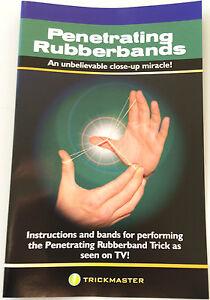 Penetrating Rubber Bands Magic Trick Penetration Linking