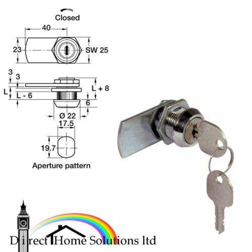 90°//180° closure random key changes straight cam Cylinder cam lock