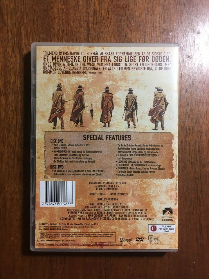 Once Upon A Time In the West, instruktør Sergio Leone, DVD