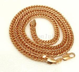 Mens-Vintage-New-Heavy-Long-Snake-Chain-18K-Yellow-Gold-Plated-62cm-24-5-inches
