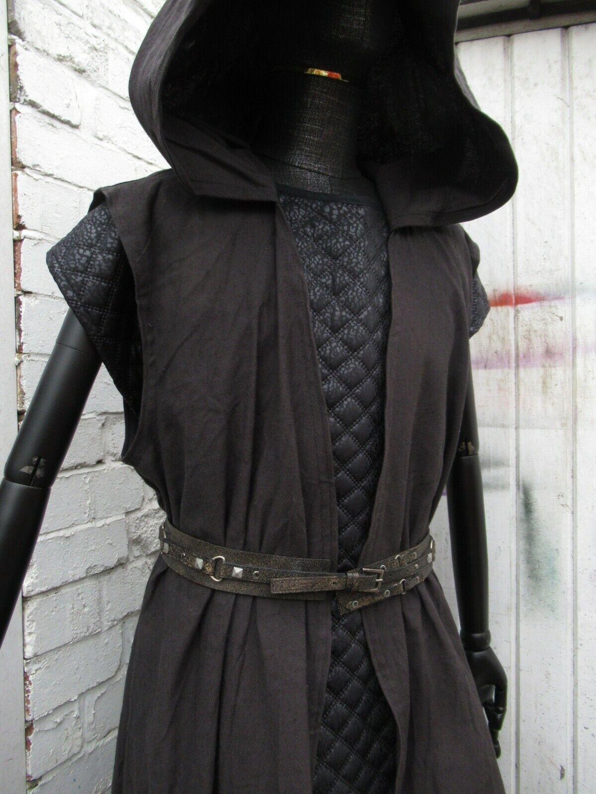 Medieval tunic surcoat Re enactment LOTR Vikings hooded tunic coat