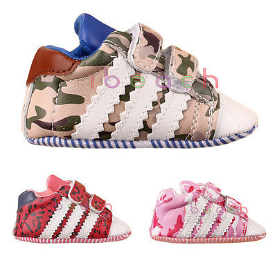 Infant Baby Boy Girl Camo Soft Sole Crib Shoes Sneakers Newborn to 18 Months