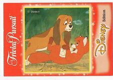 Walt Disney Trivial Pursuit Trade Card The Fox and The Hound Todd and Copper