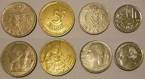 Belgio-Belgie-Belgique-Baldovino-4-monete-4-coins-5-francs-1-franc
