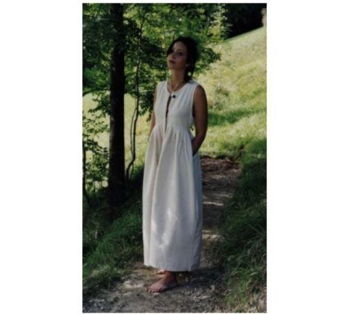 Bauernkleid  Überkleid Kleid Baumwolle Mittelalter larp Lager magd maid Markt