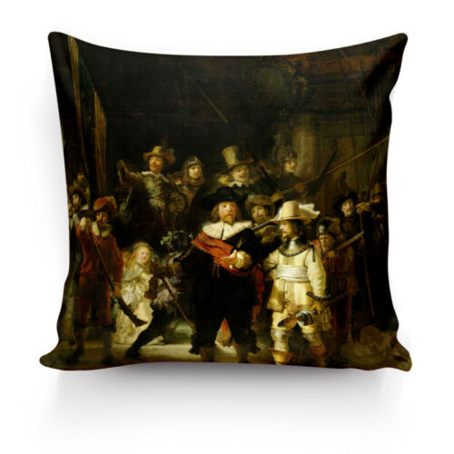 Painting By Rembrandt van Rijn High Quality Silk Pillowcase Decor Cushion Covers