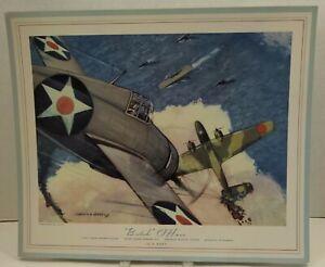 1943 Hubble Lot 12 Aviation Prints WWII American Lithographs Calendar PlanesBTB